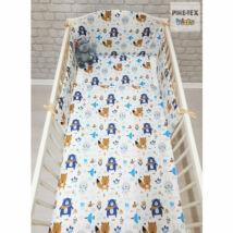 Pihetex Gyermek ágynemű szett Erdei állatok, kék 90 * 140 cm (3 db/sz)
