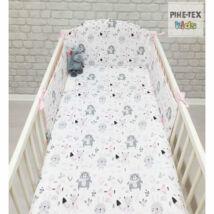 Pihetex Gyermek ágynemű szett Erdei állatok, rózsa 90 * 140 cm (3 db/sz)