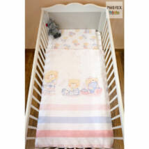 Pihetex Gyermek ágyneműhuzat Pizsamás mackók, rózsa [512/R] 90 * 140 cm