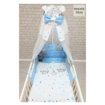 Gyermek ágynemű szett Pizsiparti, kék 90 * 140 cm (4 db/sz)