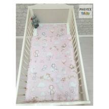 Pihetex Gyermek ágynemű szett Rózsás nyuszicsalád [574/R] 90 * 140 cm