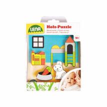 LENA Tanuló játék Gyerekszoba fa puzzle