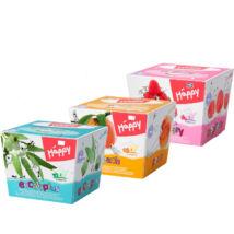 Bella Happy Papírzsebkendő 3 féle illat, színes dobozban