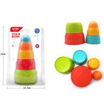 Huanger Tanuló játék Csészerakosgató torony (5 db/cs)