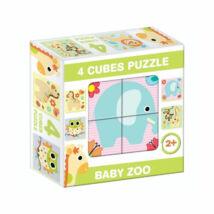 """D-Toys Tanuló játék Mesekocka """"állatkert"""" (4 db/cs)"""