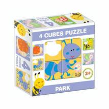 """D-Toys Tanuló játék Mesekocka """"park"""" (4 db/cs)"""