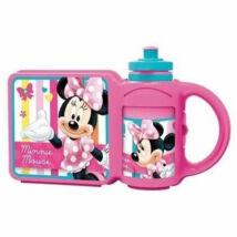 Disney Ételtároló doboz Minnie, uzsonnásdoboz kulaccsal
