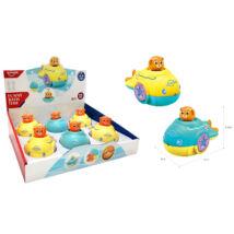 Huanger Fürdőjáték Maci hajókában, kék/sárga