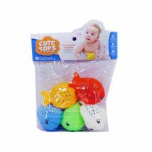 MK Toys Fürdőjáték Pöttyös halacskák szett (5 db/cs)