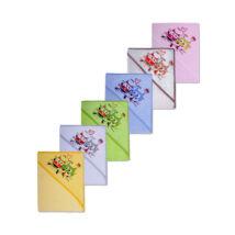 DuetBaby Fürdőlepedő Kapucnis, vegyes színekben 100 * 100 cm