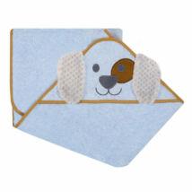 DuetBaby Fürdőlepedő Kapucnis, kék kutyus 100 * 100 cm