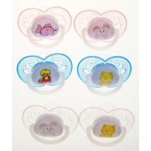 BabyBruin Játszócumi 2db-os szilikon fogszabályzós (méret: 2) 6 - 18 hó (2 db/cs)