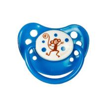 BabyBruin Játszócumi Kék, majom szilikon cseresznye (méret: 1) 0 - 12 hó