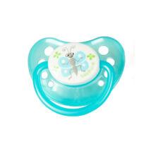 BabyBruin Játszócumi Pillangó, kék szilikon fogszabályzós (méret: 1) 0 - 6 hó