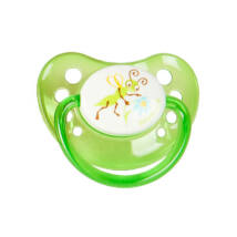 BabyBruin Játszócumi Tücsök, zöld szilikon fogszabályzós (méret: 3) 16 - 32 hó