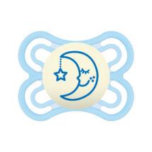 Mam Perfect night Játszócumi Világítós, sterilizáló dobozzal szilikon lapított (méret: 1) 2 - 6 hó