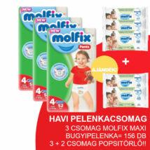 Molfix Havi pelenkacsomag Pants, 3+2 csomag zöld popsitörlővel! (4-es) 7 - 14 kg