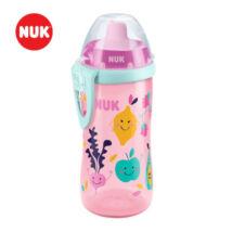Nuk Tanulópohár Flexi Cup, szívószállal, lányos minta 18+ hó (300 ml/db)