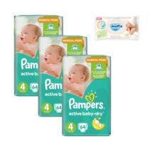 Pampers Active Baby Havi pelenkacsomag 1 csomag ajándék Molfix popsitörlővel! (4-es) 8 - 14 kg