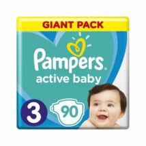 Pampers Active Baby pelenka megújult Giant Pack (3-as) 6 - 10 kg (90 db/cs)