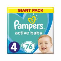 Pampers Active Baby pelenka megújult Giant Pack (4-es) 9 - 14 kg (76 db/cs)