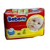 Bebem pelenka (2-es) 3 - 6 kg (40 db/cs)