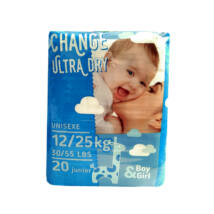 Change pelenka Ultra dry (5-ös) 12 - 25 kg (20 db/cs)