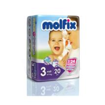 Molfix pelenka Próbacsomag, Csomagolás sérült! (3-as) 4 - 9 kg (20 db/cs)