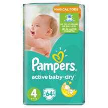 Pampers Active baby-dry pelenka (4-es) 8 - 14 kg (64 db/cs)