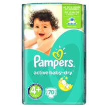 Pampers Active Baby pelenka GiantPack (4+-os) 9 - 16 kg (70 db/cs)