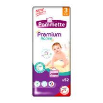 Pommette Premium Active pelenka gumisderekú (3-as) 4 - 9 kg (52 db/cs)