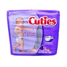 USA prémium pelenka Cuties (4-es) 10 - 17 kg (31 db/cs)
