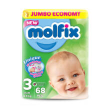 Molfix pelenka Jumbo (3-as) 4 - 9 kg (68 db/cs)