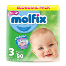 Molfix pelenka Giant (3-as) 4 - 9 kg (90 db/cs)