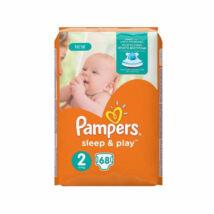 Pampers Sleep&Play pelenka (2-es) 3 - 6 kg (68 db/cs) - Csomagolás sérült!