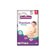 Pommette Premium Active pelenka Csomagolás sérült! (4-es) 7 - 18 kg (48 db/cs)