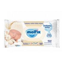 Molfix Popsitörlő Izotóniás, Newborn kupakos illatmentes sensitive (50 db/cs)