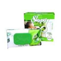 Sleepy Popsitörlő Zöldalma kupakos (50 db/cs)