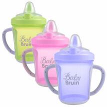 BabyBruin Tanulópohár kupakos, kemény csőrrel (270 ml/db)