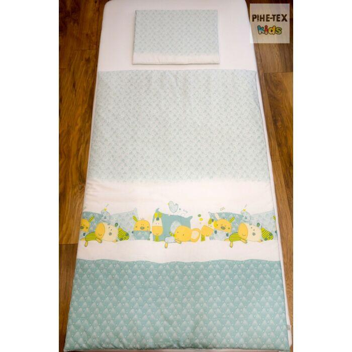 Pihetex Gyermek ágyneműhuzat Alvó állatok, zöld 90 * 140 cm