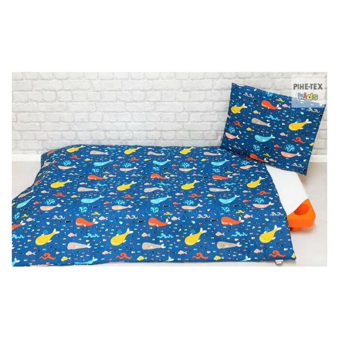 Pihetex Gyermek ágyneműhuzat Bálnák [565] 90 * 140 cm