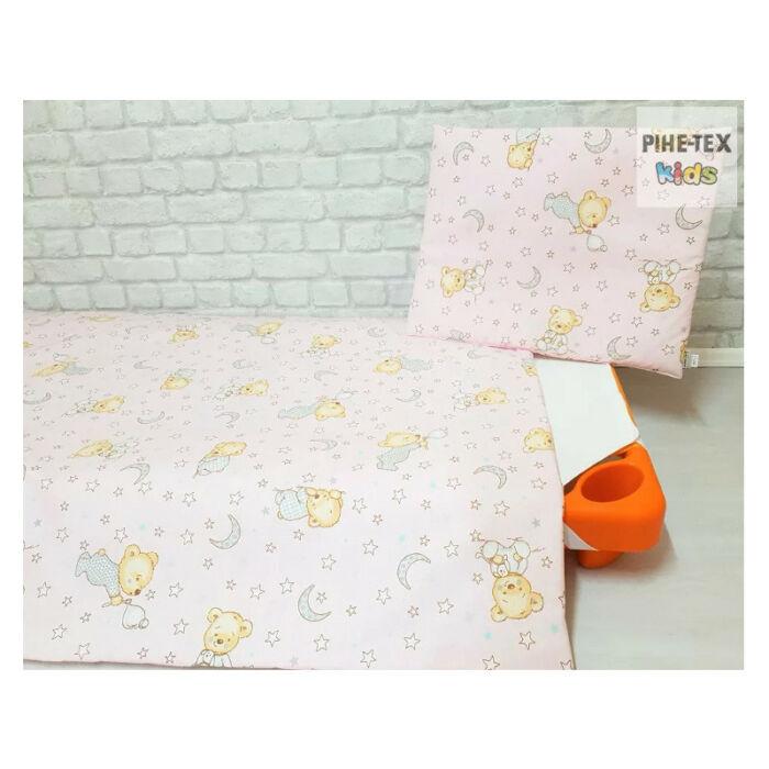 Pihetex Gyermek ágynemű szett Buborékos maci, rózsa 90 * 140 cm