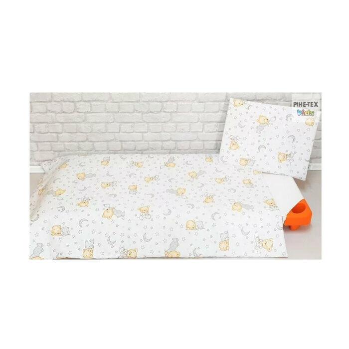 Pihetex Gyermek ágyneműhuzat Buborékos maci, fehér 90 * 140 cm