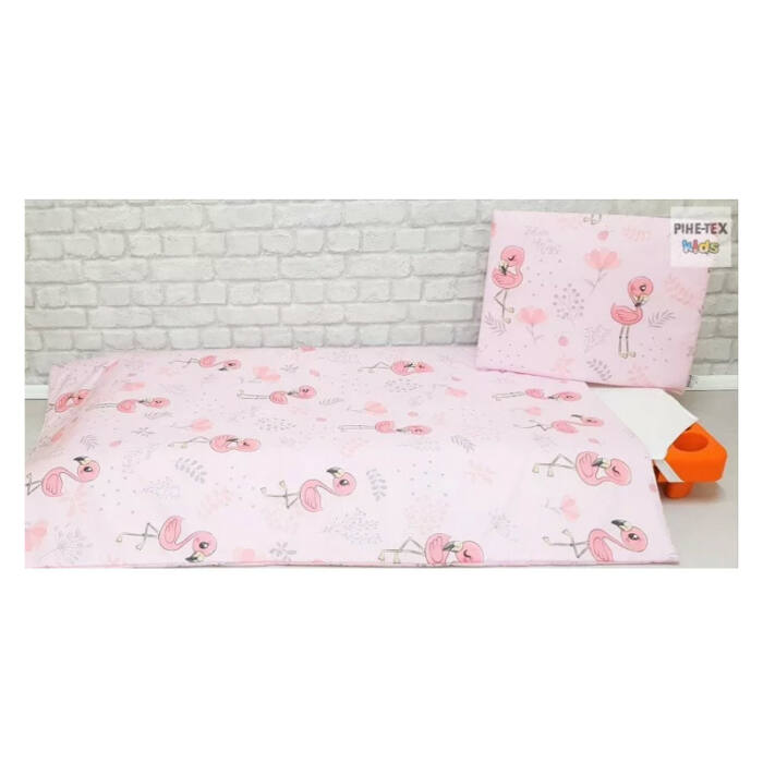 Pihetex Gyermek ágynemű szett Flamingó, pink 90 * 140 cm