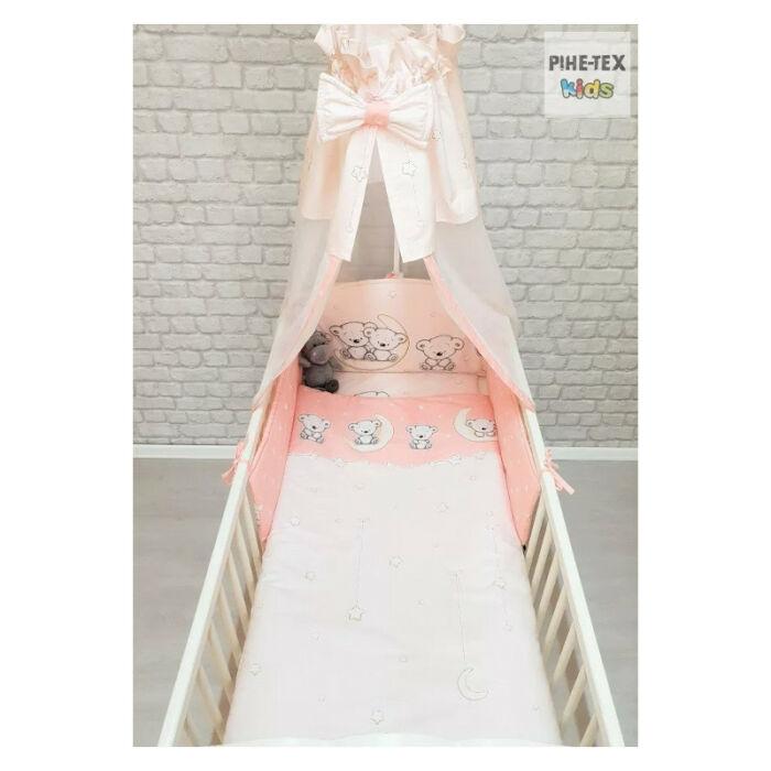 Pihetex Gyermek ágynemű szett Holdon ülő macik, rózsa 90 * 140 cm