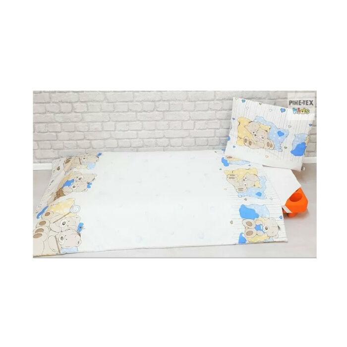 Pihetex Gyermek ágynemű szett Medvebocsok, kék 90 * 140 cm