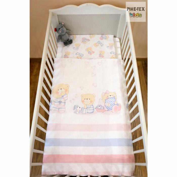 Pihetex Gyermek ágyneműhuzat Pizsamás mackók, rózsa 90 * 140 cm