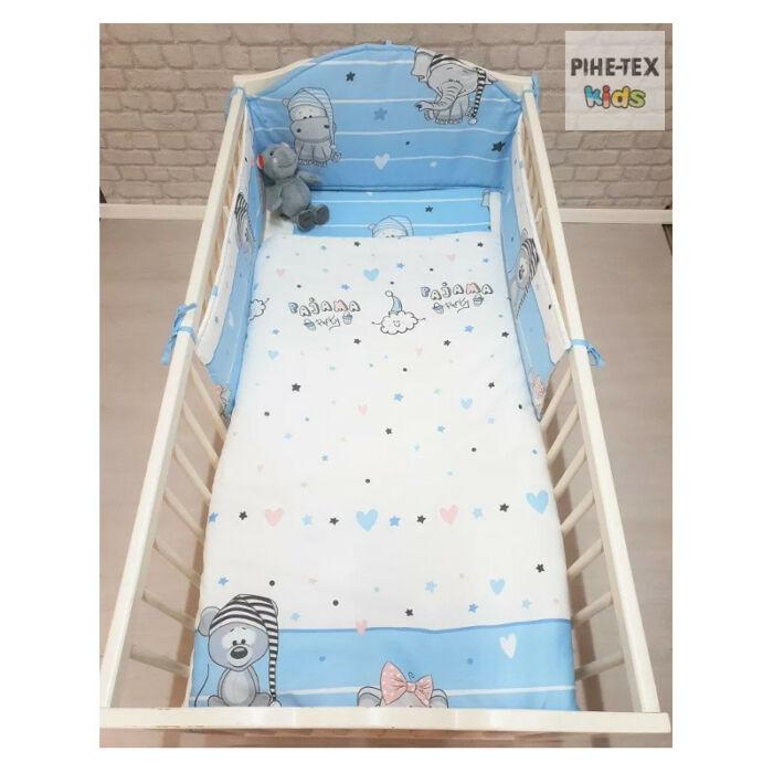 Pihetex Gyermek ágynemű szett Pizsiparti, kék 90 * 140 cm