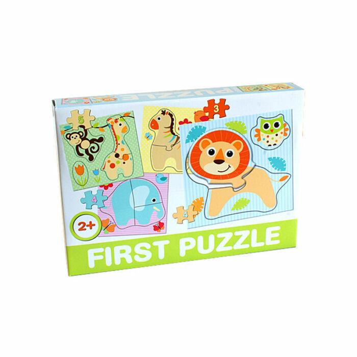 D-Toys Tanuló játék Baby puzzle, baby zoo