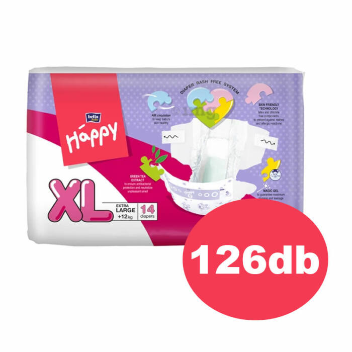 "Bella Happy pelenka ""XL"" (5-ös) 12+ kg"